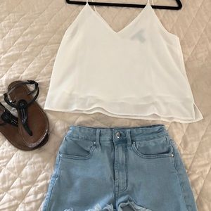 Forever 21 white loose flowy tank top